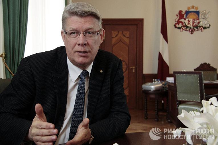 Президент Латвии Валдас Затлерс