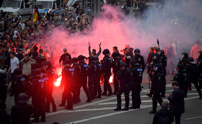 Акция протеста в немецком Хемнице