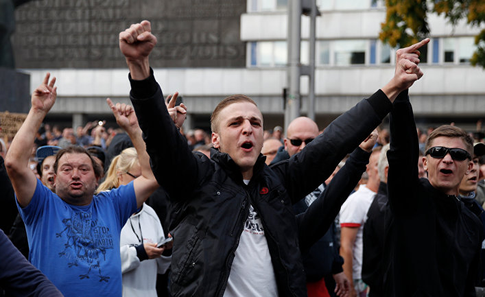 Участники беспорядков в Хемнице