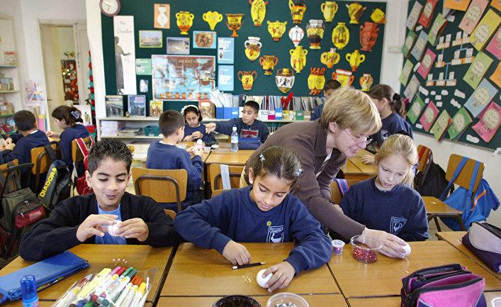 Ученики школы в Тель-Авиве, Израиль