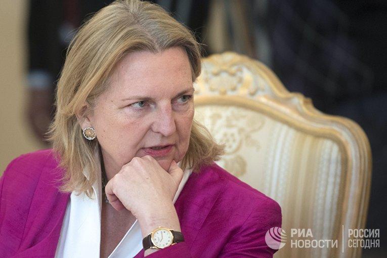 Министр европейских, интеграционных и иностранных дел Австрии Карин Кнайсль