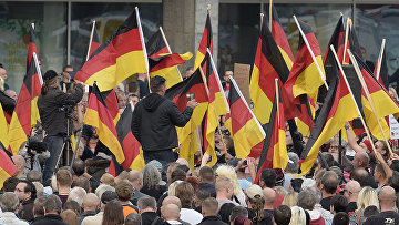 Акция протеста националистов в Хемнице, Германия