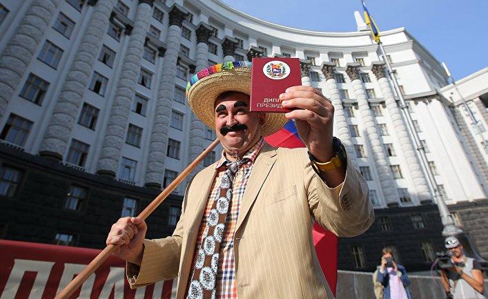 Антиправительственная акция в Киеве