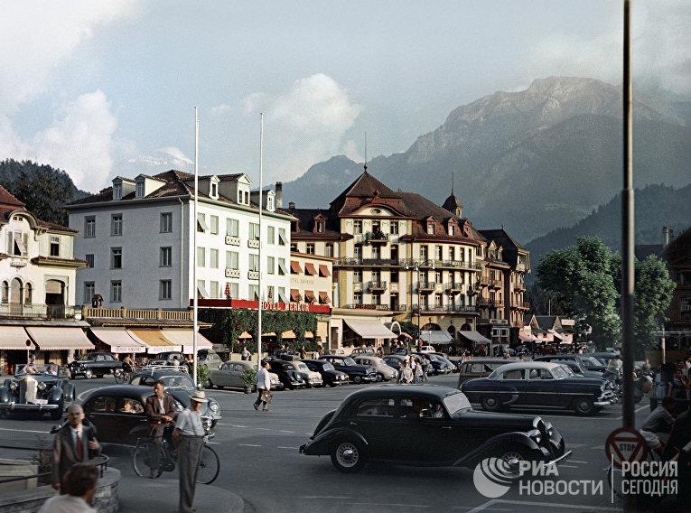 Город-курорт Интерлакен. Швейцария, 1955 го