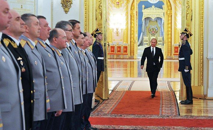 Встреча Владимира Путина с высшими офицерами и прокурорами в Кремле