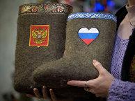 Презентация новой коллекции валенок с патриотической символикой России