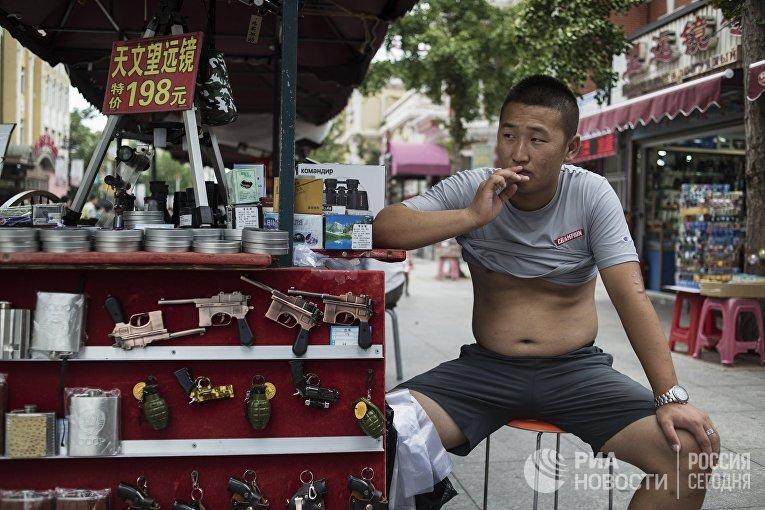 Город Далянь в Китае