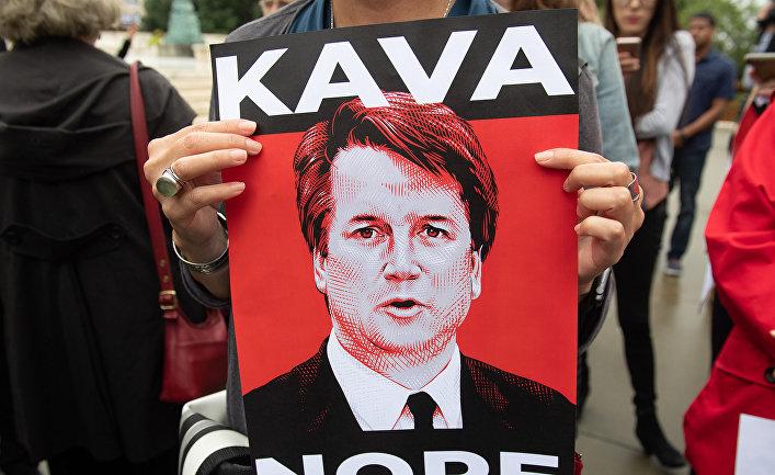 Акция протеста против назначения Бретта Кавано на должность верховного судьи в Вашингтоне