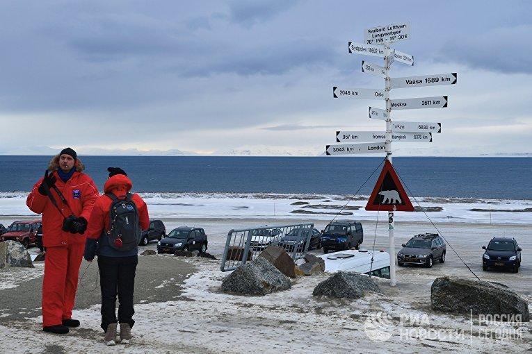 Поселок Лонгйир на Шпицбергене, Норвегия