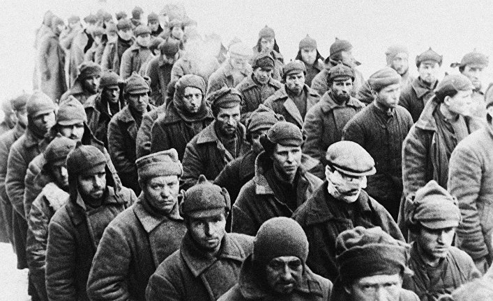 Плененные финскими войсками российские солдаты в Швеции