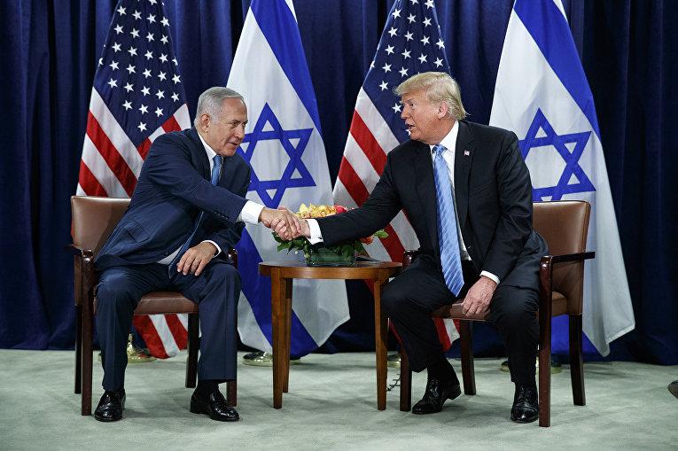 Президент США Дональд Трамп и премьер-министр Израиля Биньямину Нетаньяху
