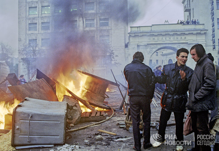 Бариккады на Смоленской площади