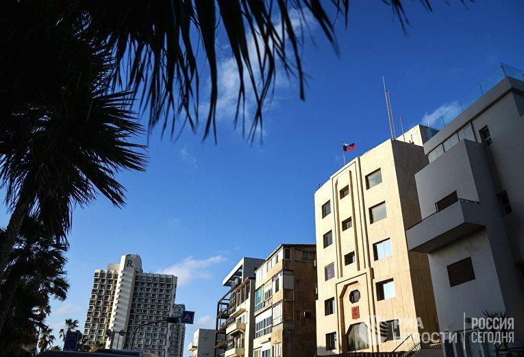 Здание посольства России в Тель-Авиве, Израиле