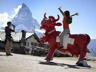 Туристы в Швейцарии