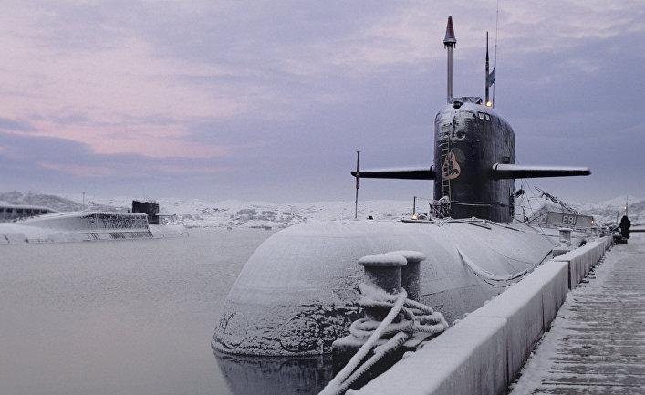 """Атомная подводная лодка того же класса, что и """"Курск"""" (К-141). Северный флот ВМФ России"""