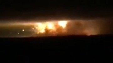 На Украине военный арсенал взлетел на воздух