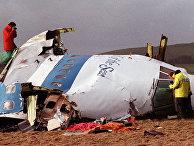 Обломки самолета Boeing 747-121 после крушения в Локерби, 1988