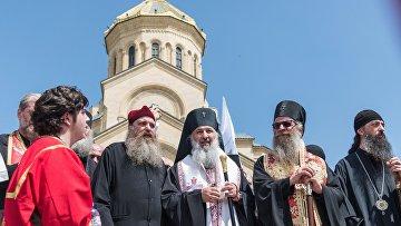 Священнослужители в День сохранения семейных ценностей в Грузии