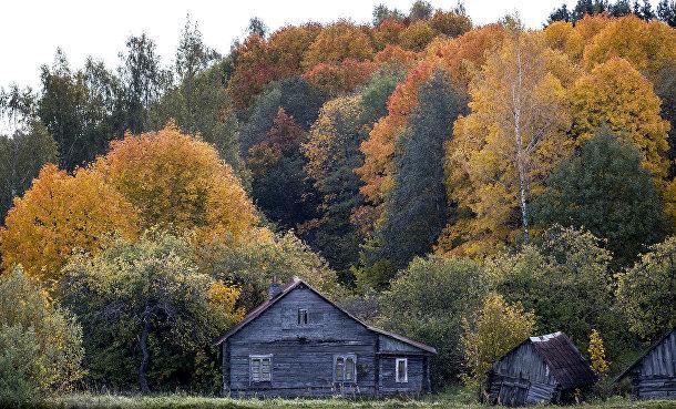 Заброшенный дом недалеко от городка Игналина в Литве