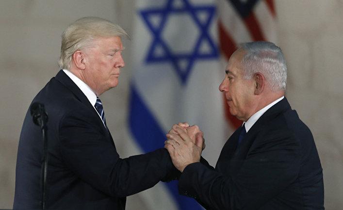 Президент США Дональд Трамп и премьер-министр Израиля Биньямин Нетаньяху в Иерусалиме