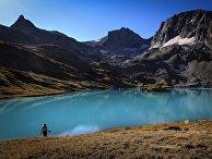Большое Имеретинское озеро на территории Кавказского государственного природного биосферного заповедника