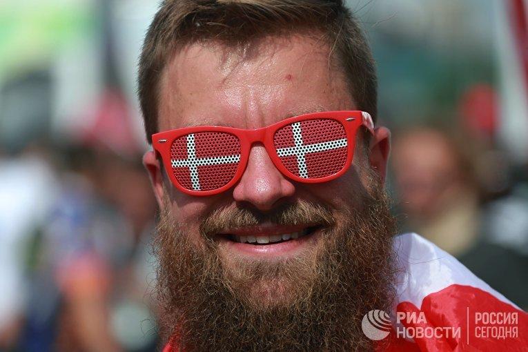 Датский болельщик на ЧМ по футболу в России