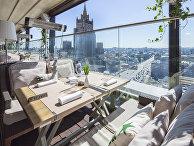 Вид из окна ресторана White Rabbitв Москве
