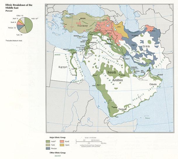 Этническая карта Ближнего Востока