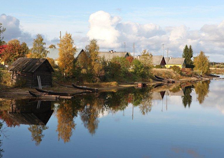 Деревня Юскюярви, Карелия, Россия