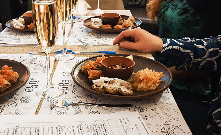 Дегустационный набор из латышского меню ресторана Jūra в Севастополе