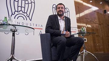 Министр внутренних дел Италии и заместитель премьер-министра Италии Маттео Сальвини в Москве