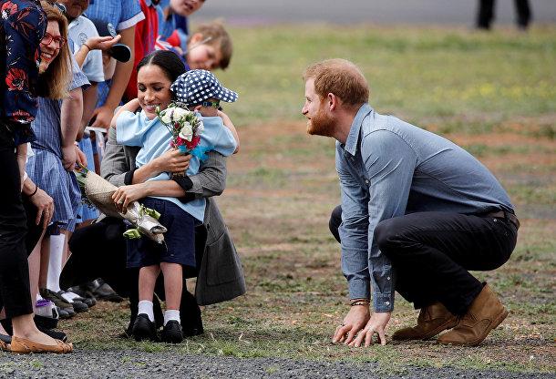 Британский принц Гарри и Меган, герцогиня Сассекская прибыли в Австралию