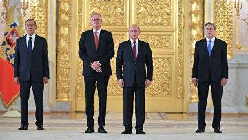 Президент РФ В. Путин принял верительные грамоты у послов иностранных государств