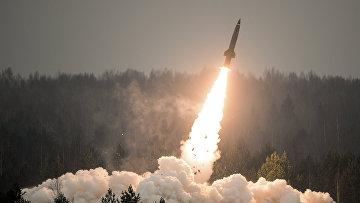 """Пуск ракеты из тактического комплекса """"Точка-У"""""""