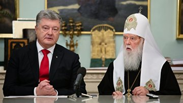 Президент Украины П.Порошенко провел встречу с архиереями УПЦ