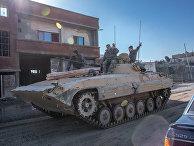 Военнослужащие сирийской армии в городе Дарайя, Сирия