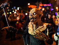 Парад по случаю праздника Хэллоуин в Нью-Йорке
