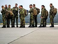 Немецкие солдаты во время учений НАТО Trident Juncture в Нидерландах
