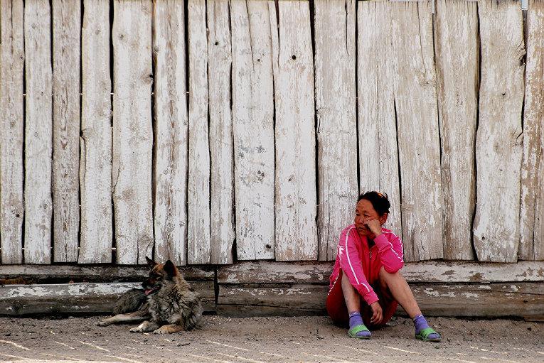 Местные жители в Туве