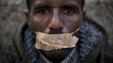 Митинг беженцев из африканских стран в Тель-Авиве, Израиль