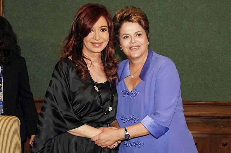 Кристина Фернандес де Киршнер и Дилма Вана Русеф
