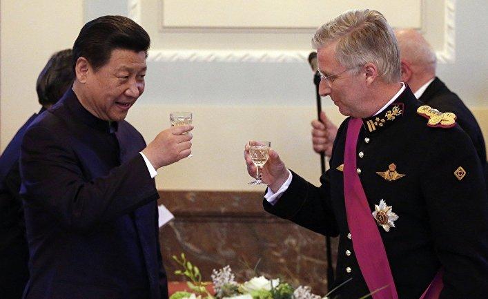 Си Цзиньпин и король Бельгии Филипп