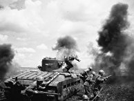 Танковый десант майора Мозгова идет в бой в районе Змиева. Юго-Западный фронт, 1942 год