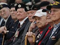 Ветераны на памятной церемонии в Кане, посвященной годовщине высадки в Нормандии