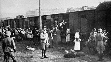 Депортация варшавских евреев в лагеря смерти