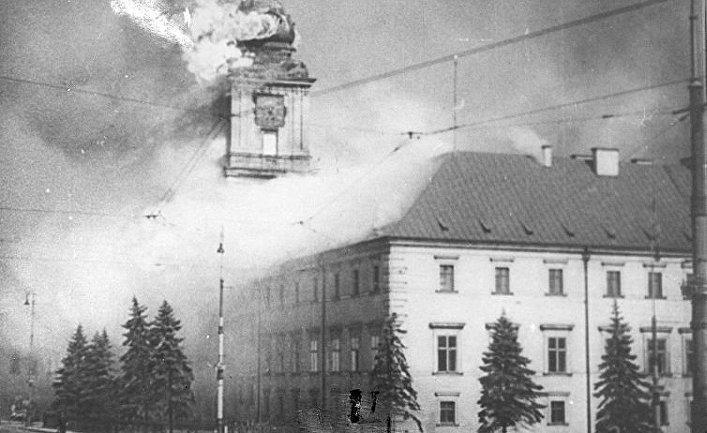 Королевский замок в Варшаве, 17 сентября 1939 г.
