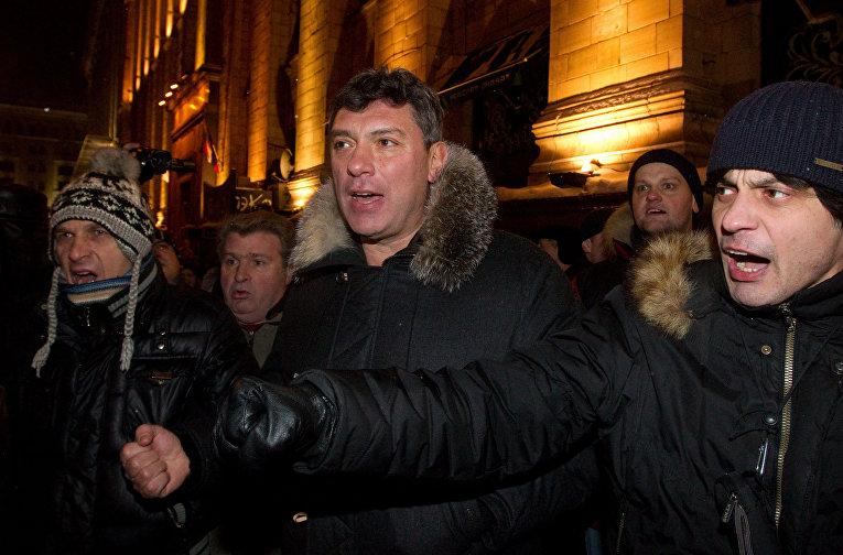 Борис Немцов на Триумфальной площади