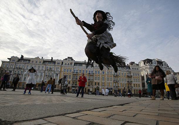Участница «парада зомби» в Киеве