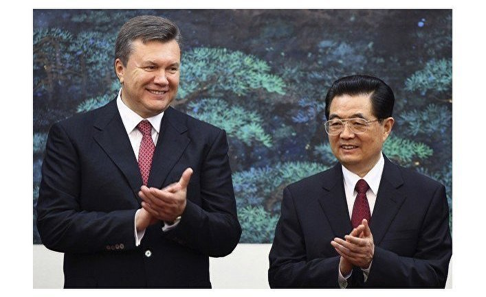 Украинский президент Виктор Янукович и его китайский коллега Ху Цзиньтао