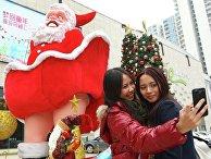 На кануне Рождества в Китае